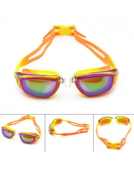 Colorful Dazzling Swimming Goggle For Kids Teenagers With Waterproof Anti-fog No Leak
