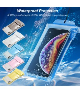 Safety Airbag Waterproof Mobile Phone Cover Outdoor Swimming Drifting Diving Touch Screen Waterproof Bag