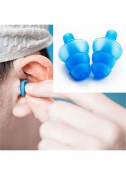 1 Pair Waterproof Silicone Ear Plugs Anti Noise Snore Earplugs Comfortable For Swimming Sleep