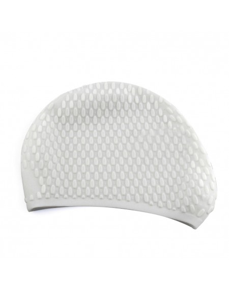3D Ergonomic Design Ear Pockets Bubble Hat for Adult Male And Female Waterproof Silicone Swim Cap