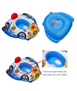 Baby Swim Ring With Handle Underarm Infant Float Seat Boat Pool Cartoon Inflatable Pool Bath Toy For Kids Child