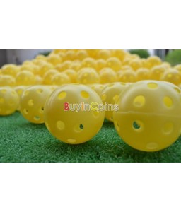 2Pcs Light Airflow Hollow Perforated Plastic Golf Practice Training Balls