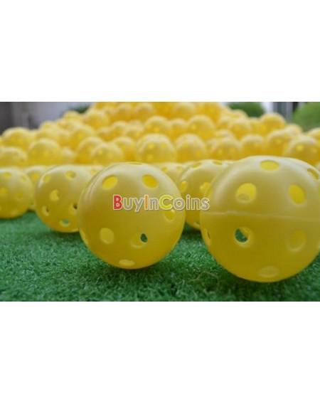 2Pcs Light Airflow Hollow Perforated Plastic Golf Practice Training Balls