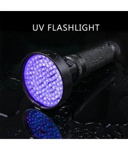 UV 100 LED Flashlight Counterfeit Detector Mask Fluorescer Detection Ultra Violet Nail Art Find Urine Bodily Fluids