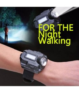 LED Wristlight Emergency Watch Flash Light with Compass Waterproof Rechargeable Outdoor Flashlight