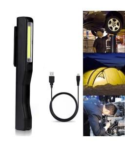 LED Flashlight Pocket COB Light Portable Mini Rechargeable Flashlight
