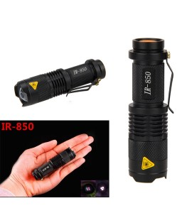 850nm IR Lamp 5W Zoom Infrared Light Flashlight Hunting Torch Lamp Night Vision