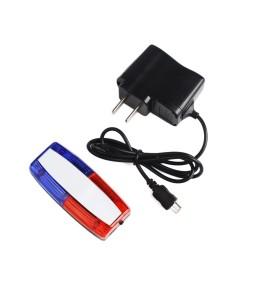 Rechargeable Red Blue Strobe Shoulder Lights Clip Flasher Safety Warning Indicator Lights
