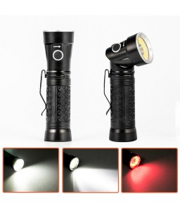 Rechargeable LED Flashlight T6 COB Fold 90 Degree Multifunction Torch Work Light Magnet Inspection Lamp