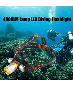 4000LM Lamp LED Underwater Waterproof Diving Headlamp Flashlight Torch Headlight
