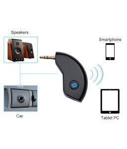 3.5mm AUX Car Bluetooth 4.2 Stereo Receiver Wireless Audio Speaker Music Streaming Audio Adapter Mic