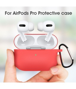 For Airpods Pro Case Wireless Earphone Silicone Case for Airpods Pro Bluetooth Headset Protective Case With Metal hook
