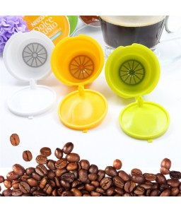 1Pc Reusable Coffee Capsules Cup Filter For Nescafe Refillable Brewers  7 Colors