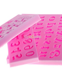 3D English Letters Molds Numbers Fondant Cake Models For Halloween 3 Types Tool