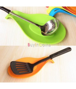 1Pc Silicone Spoon Insulation Mat Placemat Drink Glass Coaster Tray Tool