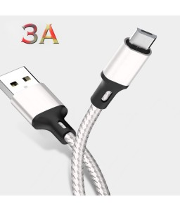 Micro USB Cable For Android Mobile Phone Fast Charging Max 3A Microusb Data Nylon Braided Cable Wire