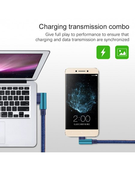 2MType C 90 Degree Right Angle USB C 3.1 Fast Data Sync Charging Charger Cable Hot