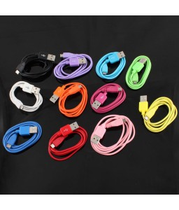 1m 3ft Micro USB Data Cable Charger Charging Cable V8 fr Samsung Phones Colorful