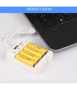 1.2V Universal 4 Slot USB Plug In Battery Charger For Rechargeable AA / AAA Batteries
