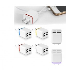 5.1A USB Power Adapter Wall Charger 4 Ports Travel Charger Cube Block