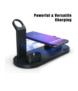 3 in 1Qi Fast Wireless Charging Dock Stand Station for Apple Watch Airpods iPhone