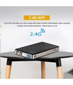 4K Smart DLP Mini Projector Android WiFi Bluetooth 1080P 8G Home Theater HDMI