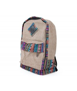Canvas Bohemian Tribal Rucksack Backpack - Khaki
