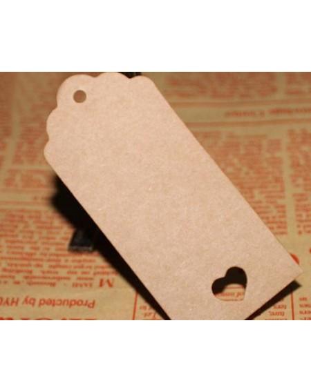 100 Pcs 9cm x 4cm Kraft Blank Hang Paper Tags with Hemp Rope