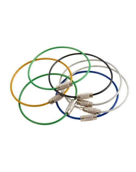 12 Pcs Multicolor Stainless Steel Wire Keychain