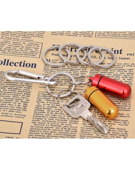 1.26 Inch Round Flat Key Chain Rings Titanium Alloy Split Ring Set of 5