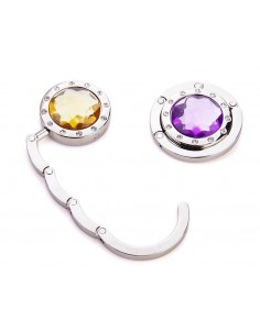 10 Pcs Colorful Folding Section Diamond Handbag Hook