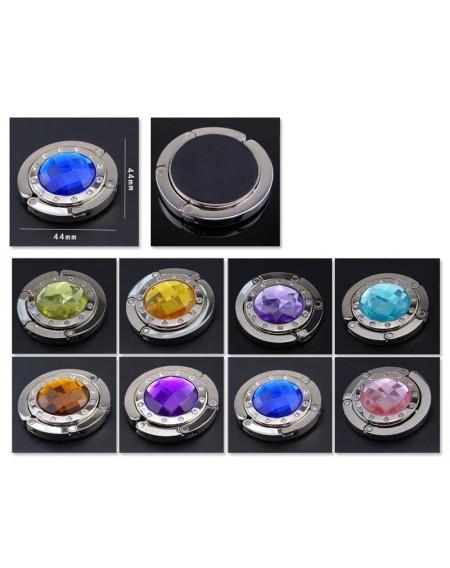 10 Pcs Colorful Folding Section Diamond Handbag Hook