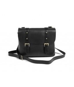 Vintage Leather Shoulder Bag for DSLR SLR Camera - Black