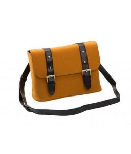 Vintage Leather Shoulder Bag for DSLR SLR Camera - Light Brown
