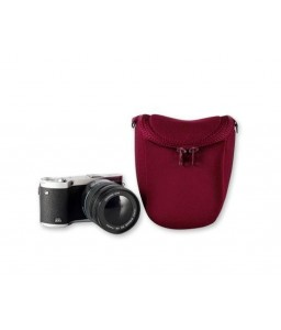 Soft Mirrorless Camera Bag with Detatchable Battery Pouch - Magenta
