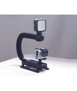 GoPro Professional Handheld Mount w/ LED Light Adapter for Hero Camera