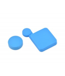 GoPro Protective Silicone Housing Lens Cap for Hero 3+/4 Camera-Blue