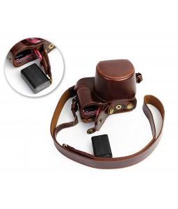 Premium Series Sony Alpha a5100 Camera Leather Case