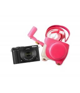 Retro Nikon 1 J5 Camera Leather Case