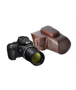 Retro Nikon Coolpix P900 Camera Leather Case