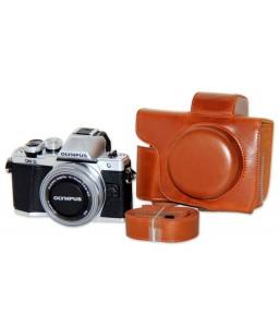 Retro Olympus OM-D E-M10 Mark III Leather Camera Case