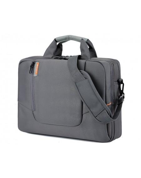 """15.6"""" Nylon Shoulder Bag with Detachable Shoulder Strap - Gray"""