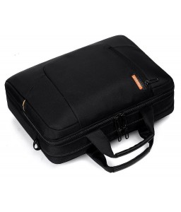 "15.6"" Nylon Shoulder Bag with Detachable Shoulder Strap - Black"