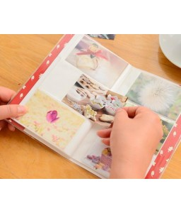 Lovable Card Holder Photo Album for Fuji Instax Mini Films - Flower
