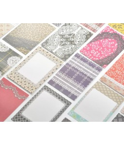 20 Sheets Fujifilm Instax Mini Films Decor Sticker Borders - Lace