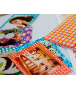 20Pcs Photo Sticker Borders for Fujifilm Instax Mini Films - Colorful