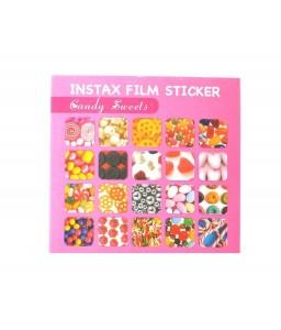 20 Sheets Fujifilm Instax Mini Films Decor Sticker Borders - Candy